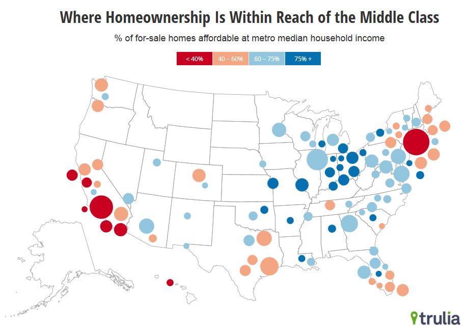 Us housing market price per square foot map