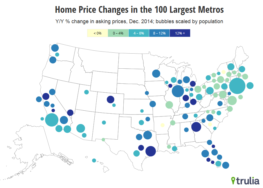 What Falling Oil Prices Mean For Home Prices Trulias Blog - House pricing in us map