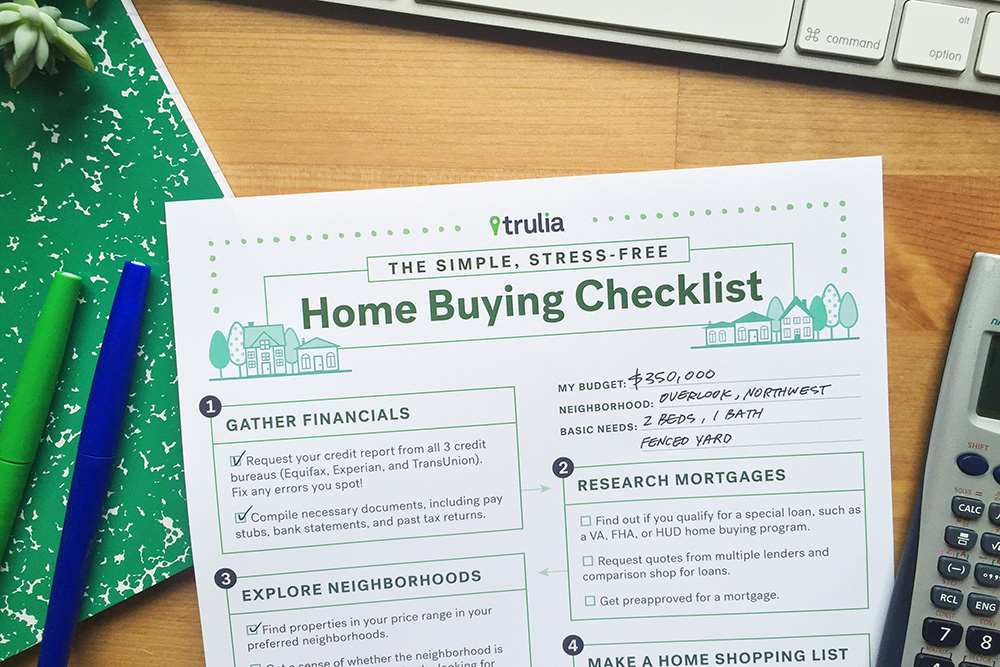 trulia s home buying checklist trulia 39 s blog real