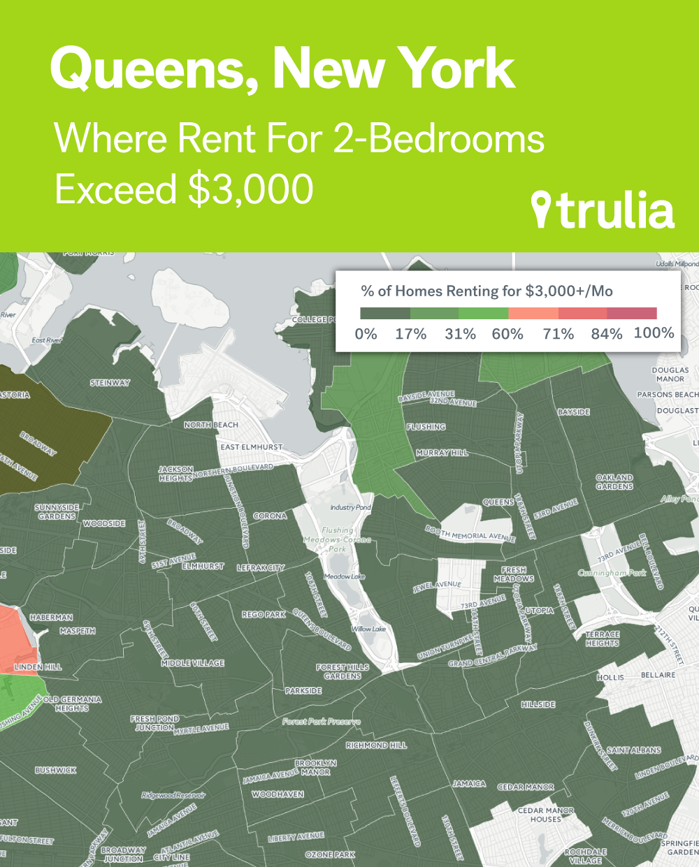 Where Rents Are Too Damn High Trulias Blog - Map of average rents across the us in major cities