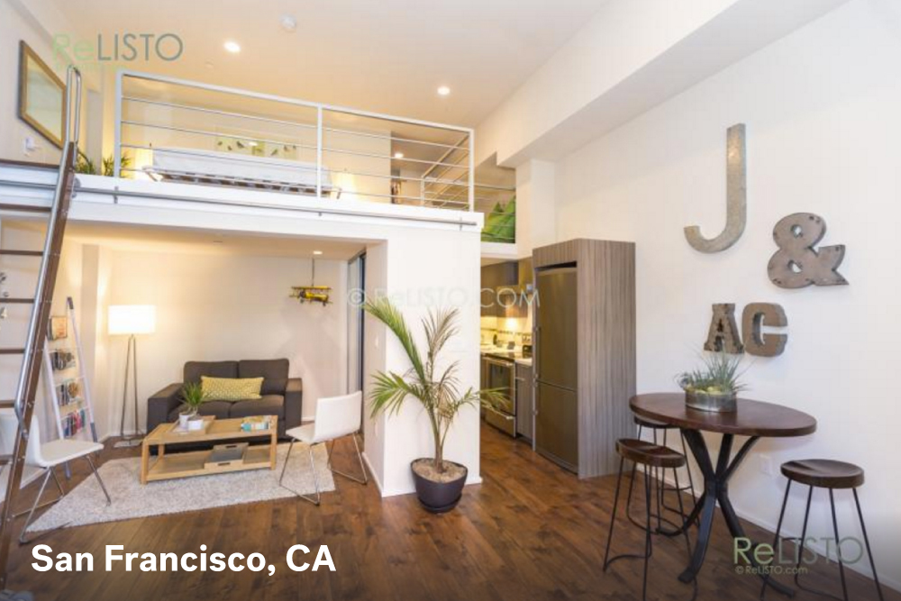 Studio apartment ideas with massive style real estate 101 trulia blog How much is a one bedroom apartment in san francisco