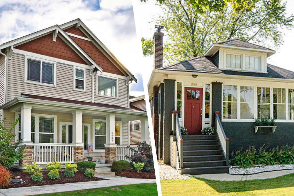 Would you rather new or vintage craftsman homes real for Craftsman house for sale