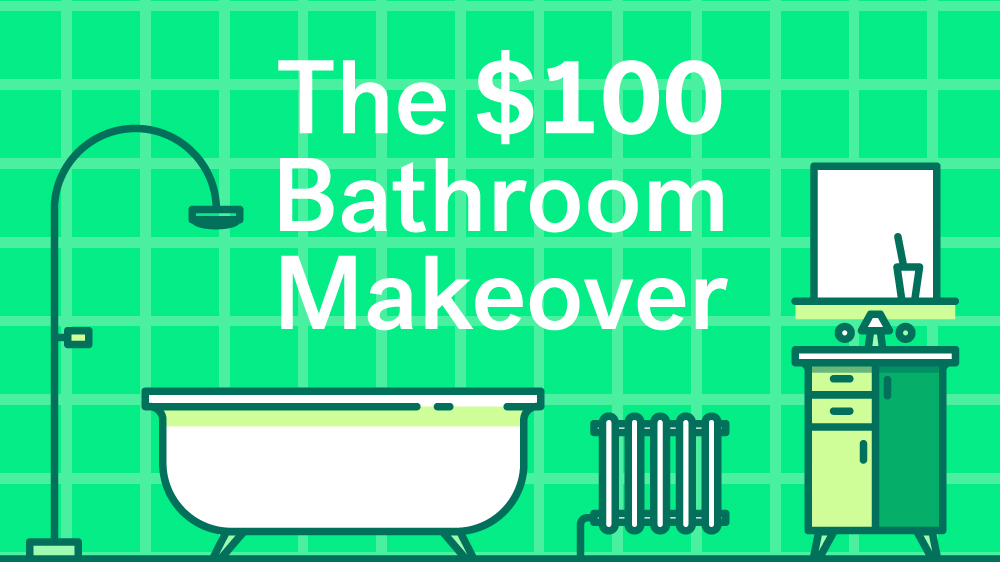 Bathroom Makeover For Under $1000 bathroom makeovers for under $100 – life at home – trulia blog
