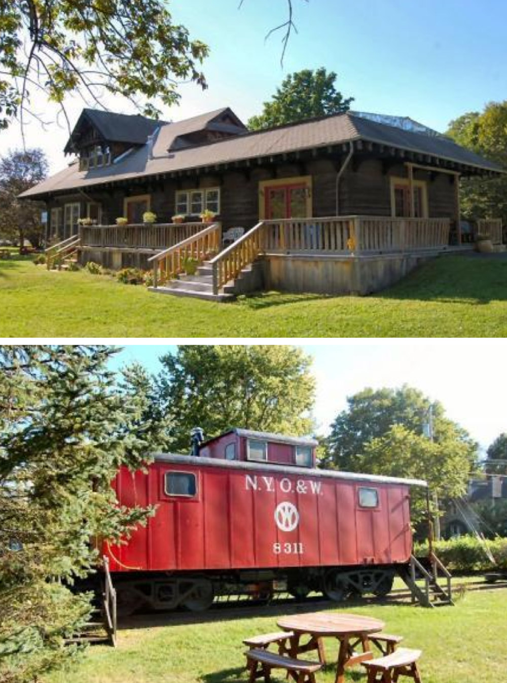 8 homes with converted train cars for sale life at home for Railroad stations for sale