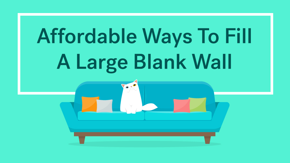 10 affordable decorating ideas for large walls life at for What to do with a blank wall