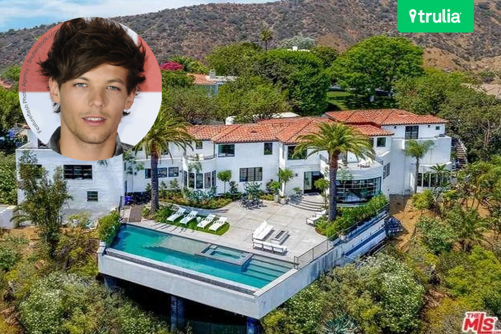 Louis tomlinson baby news and new house celebrity for Hollywood mansion for sale