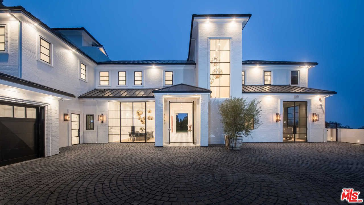 lebron james drops $23 million on brentwood estate exterior